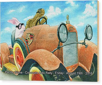 Wood Print featuring the painting Pg Auto Rally by Will Bullas