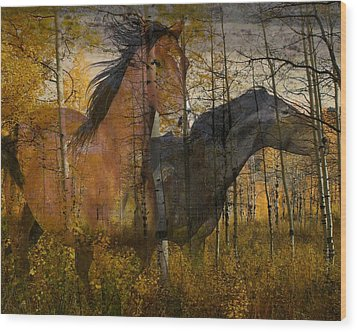 Phantom Grove Wood Print