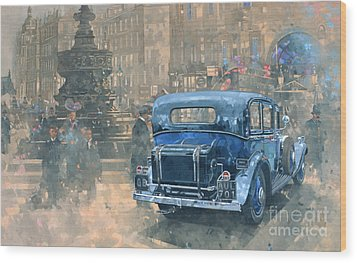 Phantom In Piccadilly  Wood Print by Peter Miller