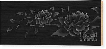 Phantom Peonies Wood Print
