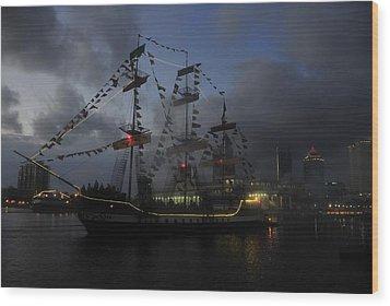 Phantom Ship Wood Print by David Lee Thompson