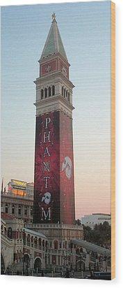 Phantom Tower With Clear Sky Wood Print by Alan Espasandin