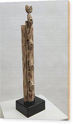 Pharaohs Iconic Cult - Ancestral Stela - Egypt - Egyptian - Pharaohs - Helga Pohlen  Wood Print by Urft Valley Art