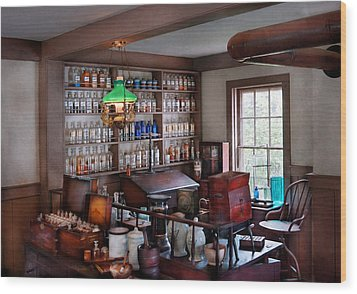 Pharmacist - Pharmacist From The 1880's  Wood Print by Mike Savad