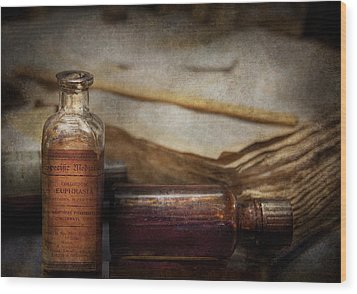 Pharmacist - Specific Medicines  Wood Print by Mike Savad