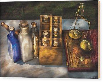 Pharmacist - Field Medicine Wood Print by Mike Savad