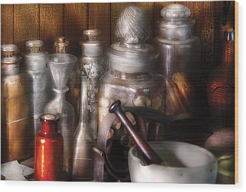 Pharmacist - Tools Of The Pharmacist  Wood Print by Mike Savad