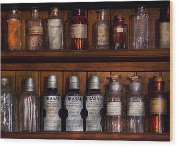 Pharmacy - Bonafide Cures Wood Print by Mike Savad