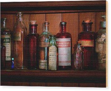 Pharmacy -  Oils And Inhalants Wood Print by Mike Savad