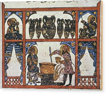 Pharmacy: Arabic Ms Wood Print by Granger