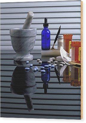 Pharmacy  Wood Print