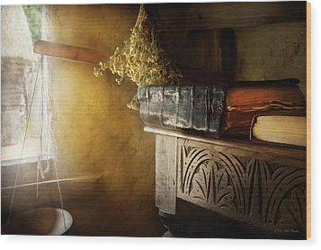 Wood Print featuring the photograph Pharmacy - The Apothecarian by Mike Savad