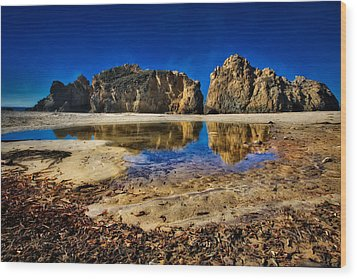 Wood Print featuring the photograph Pheiffer Beach #15 - Big Sur, Ca by Jennifer Rondinelli Reilly - Fine Art Photography