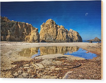 Wood Print featuring the photograph Pheiffer Beach - Keyhole Rock #16 - Big Sur, Ca by Jennifer Rondinelli Reilly - Fine Art Photography