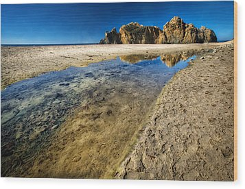 Wood Print featuring the photograph Pheiffer Beach- Keyhole Rock #19 - Big Sur, Ca by Jennifer Rondinelli Reilly - Fine Art Photography
