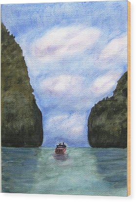 Phi Phi Islands Wood Print by Monika Deo