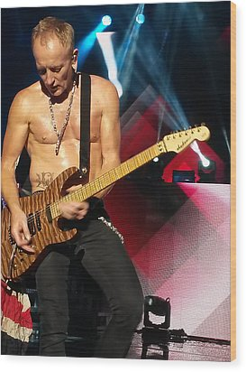 Phil Collen Of Def Leppard 2 Wood Print by David Patterson