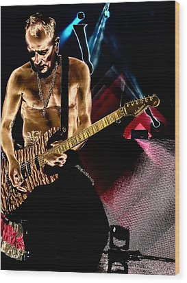 Phil Collen Of Def Leppard 3 Wood Print by David Patterson