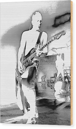 Phil Collen Of Def Leppard Wood Print by David Patterson