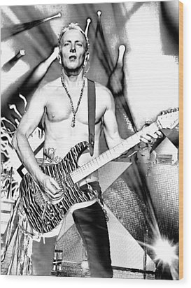 Phil Collen With Def Leppard Wood Print by David Patterson