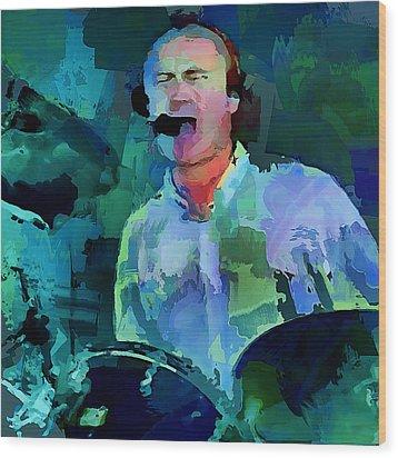 Phil Collins Drums Wood Print