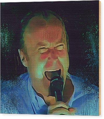 Phil Collins Ha Ha Ha Wood Print
