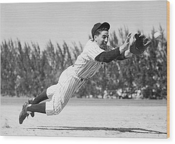 Phil Rizzuto, As A Rookie Infielder Wood Print by Everett