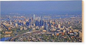 Philadelphia Aerial  Wood Print