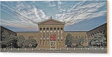 Philadelphia Art Museum Wood Print by Jack Paolini