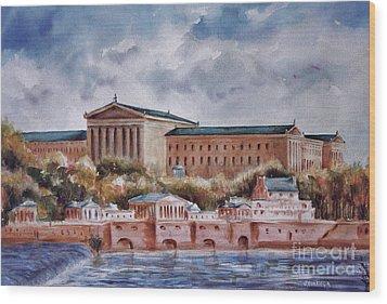 Philadelphia Art Museum Wood Print by Joyce A Guariglia