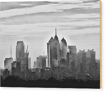 Philadelphia Wood Print by Bill Cannon