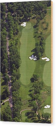 Wood Print featuring the photograph Philadelphia Cricket Club Militia Hill Golf Course 13th Hole by Duncan Pearson