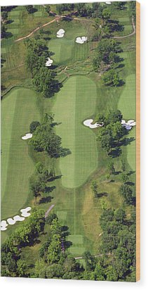 Wood Print featuring the photograph Philadelphia Cricket Club Militia Hill Golf Course 14th Hole by Duncan Pearson