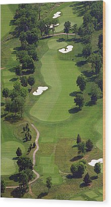 Wood Print featuring the photograph Philadelphia Cricket Club Militia Hill Golf Course 16th Hole 2 by Duncan Pearson