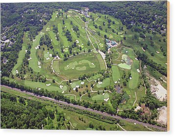 Philadelphia Cricket Club Militia Hill Golf Course Holes 3 4 5 6 7 8 And 9 Wood Print by Duncan Pearson