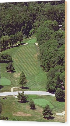 Philadelphia Cricket Club St Martins Golf Course 4th Hole 415 W Willow Grove Ave Phila Pa 19118 Wood Print by Duncan Pearson