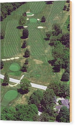 Philadelphia Cricket Club St Martins Golf Course 7th Hole 415 W Willow Grove Ave Phila Pa 19118 Wood Print by Duncan Pearson