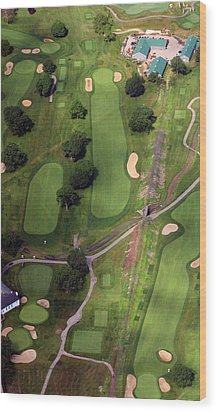 Wood Print featuring the photograph Philadelphia Cricket Club Wissahickon Golf Course 11th Hole by Duncan Pearson