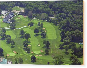 Wood Print featuring the photograph Philadelphia Cricket Club Wissahickon Golf Course 1st And 18th Holes by Duncan Pearson