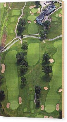 Philadelphia Cricket Club Wissahickon Golf Course 2nd Hole Wood Print by Duncan Pearson