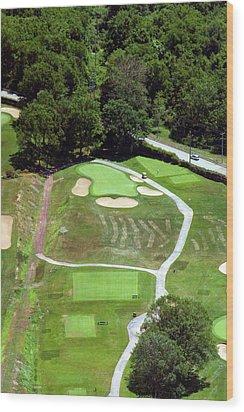 Philadelphia Cricket Club Wissahickon Golf Course 3rd Hole Wood Print by Duncan Pearson
