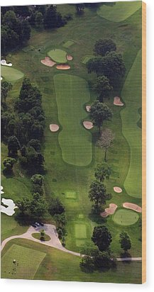 Wood Print featuring the photograph Philadelphia Cricket Club Wissahickon Golf Course 5th Hole by Duncan Pearson
