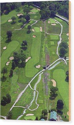 Philadelphia Cricket Club Wissahickon Golf Course 9th Hole Wood Print by Duncan Pearson