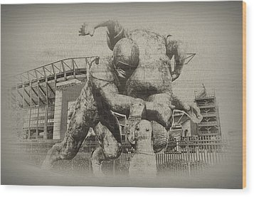 Philadelphia Eagles At The Linc Wood Print by Bill Cannon