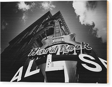 Philadelphia Hard Rock Cafe  Wood Print by Bill Cannon