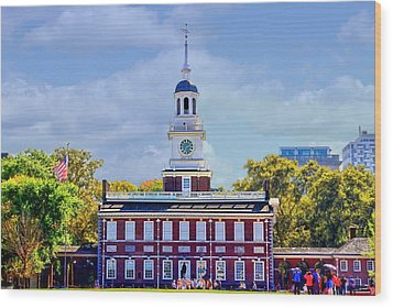 Philadelphia Landmark Wood Print by DJ Florek