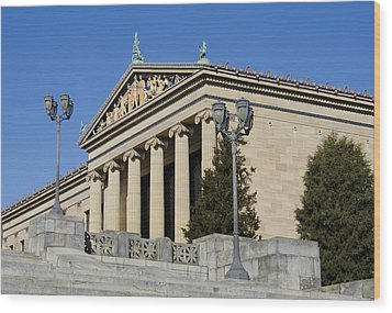 Philadelphia Museum Of Art Wood Print by Brendan Reals
