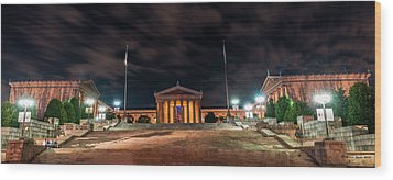 Wood Print featuring the photograph Philadelphia Museum Of Art by Marvin Spates