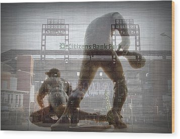 Philadelphia Phillies - Citizens Bank Park Wood Print by Bill Cannon