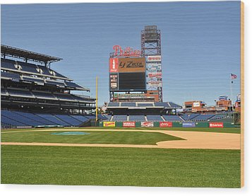 Philadelphia Phillies Stadium  Wood Print by Brynn Ditsche